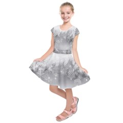 New Year Holiday Snowflakes Tree Branches Kids  Short Sleeve Dress