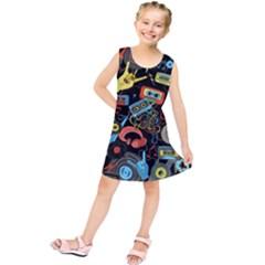 Music Pattern Kids  Tunic Dress