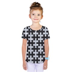 Puzzle1 Black Marble & Gray Marble Kids  One Piece Tee