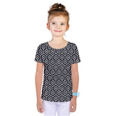Hexagon1 Black Marble & Gray Marble Kids  One Piece Tee
