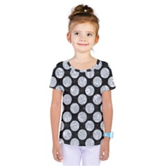Circles2 Black Marble & Gray Marble Kids  One Piece Tee