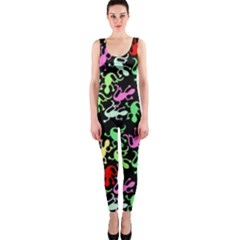 Playful Lizards Pattern Onepiece Catsuit