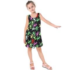 Playful lizards pattern Kids  Sleeveless Dress
