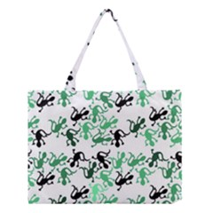 Lizards pattern - green Medium Tote Bag