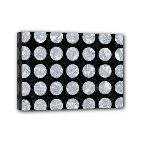 Circles1 Black Marble & Gray Marble Mini Canvas 7  X 5  (stretched)