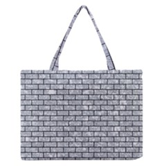 BRK1 BK-GY MARBLE (R) Medium Zipper Tote Bag