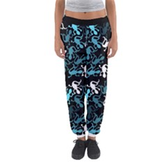 Cyan Lizards Pattern Women s Jogger Sweatpants