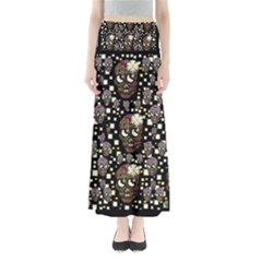 Floral Skulls With Sugar On Maxi Skirts