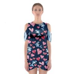 Shark Lover Cutout Shoulder Dress