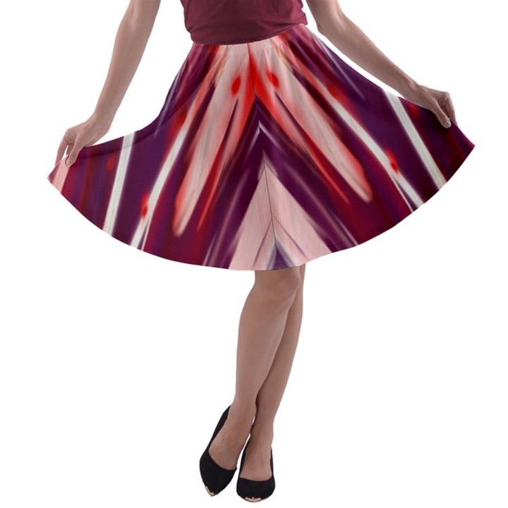 purple A-line Skater Skirt