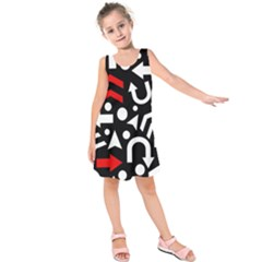Right Direction   Red Kids  Sleeveless Dress