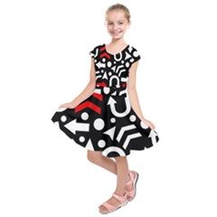Right Direction   Red Kids  Short Sleeve Dress