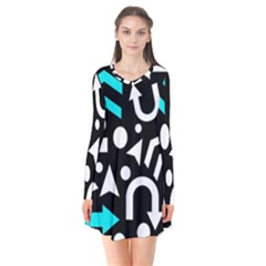 Right Direction   Cyan Flare Dress