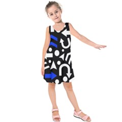 Right direction - blue  Kids  Sleeveless Dress