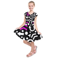 Right Direction   Magenta Kids  Short Sleeve Dress