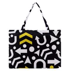 Right direction - yellow Medium Zipper Tote Bag