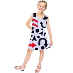 Red right direction Kids  Tunic Dress