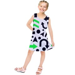 Green right direction  Kids  Tunic Dress