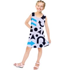 Cyan right direction Kids  Tunic Dress