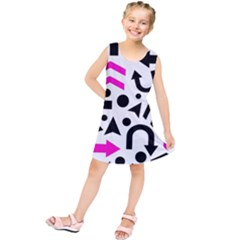 Magenta Right Direction Kids  Tunic Dress