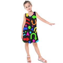 Right Direction   Colorful Kids  Sleeveless Dress