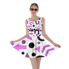 Magenta Direction Pattern Skater Dress