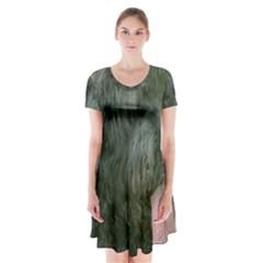 Bouvier Des Flandres Short Sleeve V-neck Flare Dress