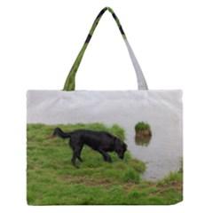 3 Full Flat Coated Retriever Medium Zipper Tote Bag