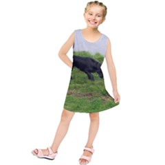 3 Full Flat Coated Retriever Kids  Tunic Dress