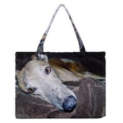 Greyhound 2 Medium Zipper Tote Bag