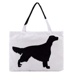 Irish Red White Setter Silo Black Medium Zipper Tote Bag