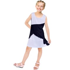 Irish Red White Setter Silo Black Kids  Tunic Dress