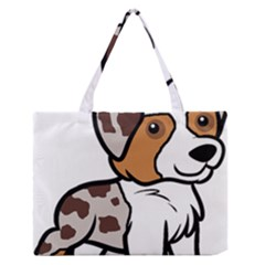 Aussie Red Merle Cartoon Medium Zipper Tote Bag