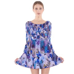 Advent Calendar Gifts Long Sleeve Velvet Skater Dress