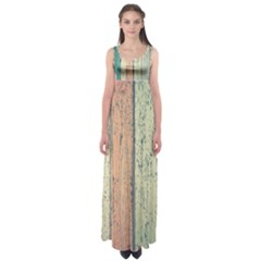 Abstract Board Construction Panel Empire Waist Maxi Dress