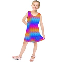 Psychedelicrainbowheatwaves Kids  Tunic Dress