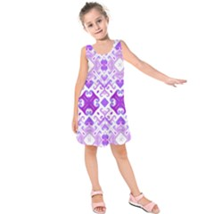 Soft Lavender Swirling Kids  Sleeveless Dress