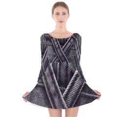 Backdrop Belt Black Casual Closeup Long Sleeve Velvet Skater Dress