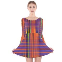 Background Texture Patterncake Happy Birthday Long Sleeve Velvet Skater Dress