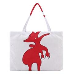 Grotesque Red Creature  Medium Tote Bag