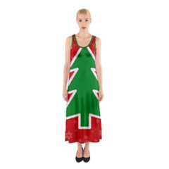 Christmas Tree Sleeveless Maxi Dress