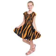 SKN3 BK-OR MARBLE Kids  Short Sleeve Dress