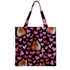 Crazy Cat Love Grocery Tote Bag