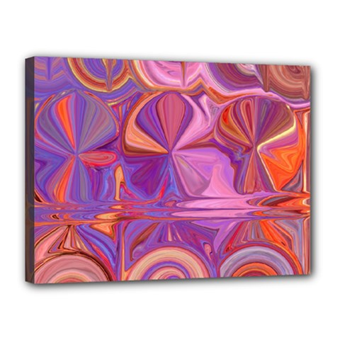 Candy Abstract Pink, Purple, Orange Canvas 16  x 12