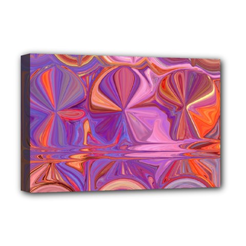 Candy Abstract Pink, Purple, Orange Deluxe Canvas 18  X 12