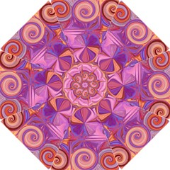 Candy Abstract Pink, Purple, Orange Hook Handle Umbrellas (small)