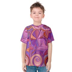 Candy Abstract Pink, Purple, Orange Kids  Cotton Tee