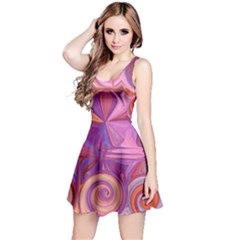 Candy Abstract Pink, Purple, Orange Reversible Sleeveless Dress