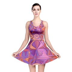 Candy Abstract Pink, Purple, Orange Reversible Skater Dress