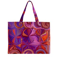Candy Abstract Pink, Purple, Orange Zipper Mini Tote Bag